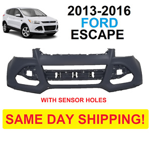 2013 2014 2015 2016 Ford Escape Front Bumper Cover New With Park Sensor Holes
