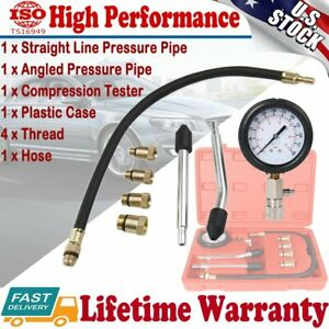 Cylinder Leak Down Tester Pressure Gauge Leakage Detector Engine Compression Kit
