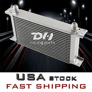 19 Rows Mocal Universal Engine All Aluminum Transmission Oil Cooler Silver An10
