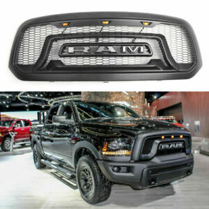 Us Grille Grill Dodge Ram 1500 2013 2018 Mesh Rebel Style Abs Honeycomb Bumper