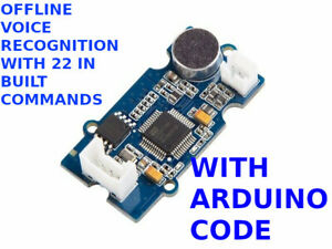 Offline Voice Recognition Arduino With 22 In Built Commands Software Code