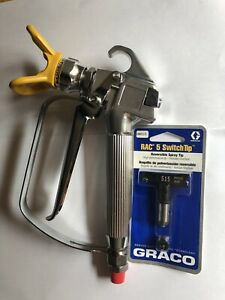 Titan Lx 80 Pn 580 100 4 finger Spray Gun With 515 Rac 5 Black Tip