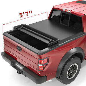 Oedro Fit For 2009 2014 Ford F 150 Styleside 5 5ft Four Quad Fold Tonneau Cover