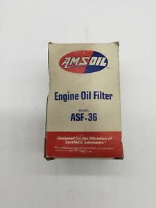 Antique Amsoil Engine Oil Filter Asf 36