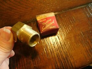 Dodge Brass Tube Connection Fitting 1946 1947 1948 Oem Mopar Nos