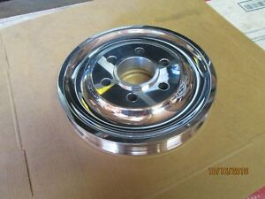 Blower Pulley Serpentine For Crank Hub 671 8 71 6 71 Hemi Chevy Ls 1 2 3 Polish