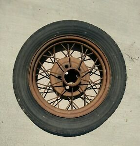 Ford Model A Wire Spoke Wheel And Tire