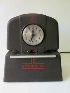 Vintage Stromberg Time Clock Punch Clock Time Keeper Recorder Works