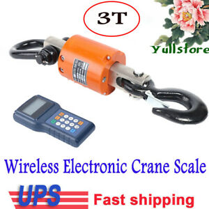 Industrial Wireless Crane Scale 200m 600 Ft Range Hanging Scale 6600 Lbs 3t