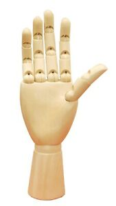 Wooden Adult Female Jewelry Hand Display With Flexible Wrists And Fingers set