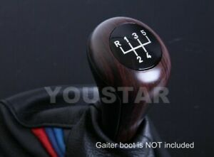 Luxury Italian Leather Weighted Wood 5 Speed Mt Gear Knob For Bmw E46 E36 E30