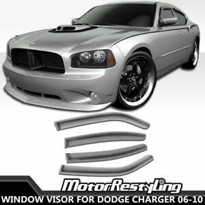 4x Window Visor For Dodge Charger 2006 2010 Vent Shade Deflectors Weather Shield