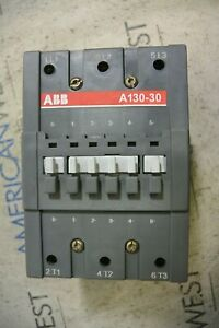 Abb A130 30 Contactor 140 Amp 600 Volt 3 Phase With 200 220 Volt 60hz Coil T
