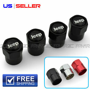 Valve Stem Caps Wheel Tire For Jeep 4pc 3 Color Option Us Seller