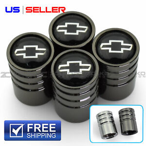 Valve Stem Caps Wheel Tire For Chevrolet Chevy 4pc 2 Color Option Us Seller