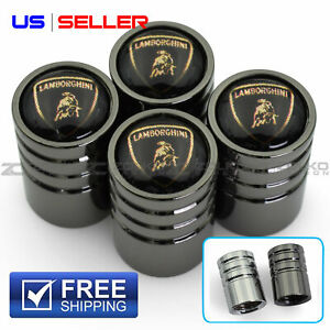 Valve Stem Caps Wheel Tire For Lamborghini 4pc Set 2 Color Option Ve101 Ve102