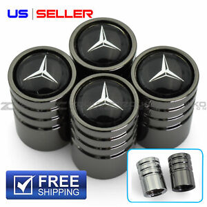 Valve Stem Caps Wheel Tire For Mercedes Benz 4pc 2 Color Option Us Seller