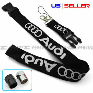 Keychain For Audi Lanyard Quick Release Key Chain Valve Cap Option Us Seller