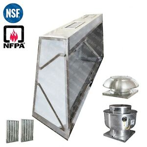 7 Ft Low Profile Restaurant Commercial Makeup Air Hood Captiveaire System