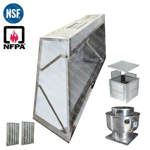 17 Ft Low Profile Restaurant Commercial Makeup Air Hood Captiveaire System
