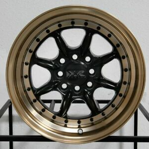 4 New 16 Xxr 002 5 Wheels 16x8 4x100 4x114 3 0 Flat Black Bronze Lip Rims