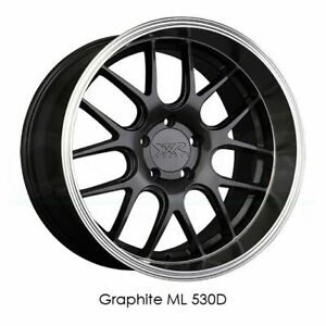4 New 18 Xxr 530d Wheels 18x9 18x10 5 5x114 3 20 20 Graphite Ml Staggered Rims