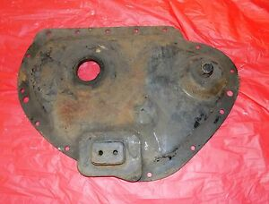 1934 Packard Super 8 Engine Motor Front Starter Timing Cover Crankcase Plate