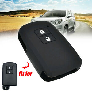 Silicone 2 Buttons Key Case Cover For Toyota Auris Camry Rav4 Yaris Remote Fob
