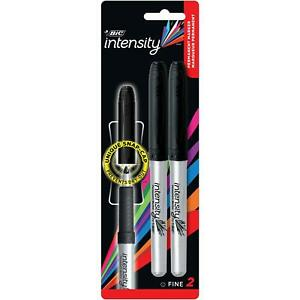 Bic Mark it Permanent Marker Fine Point Black 2 Markers gpmp21 blk