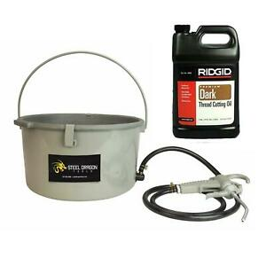 Steel Dragon Tools 418 Handheld Oiler Bucket 10883 And 1 Gallon Of Ridgid Dark