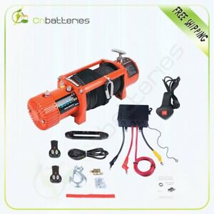 13000lb Electric Winch 86 Synthetic Rope Recovery Towing For 89 19 Jeep Truck