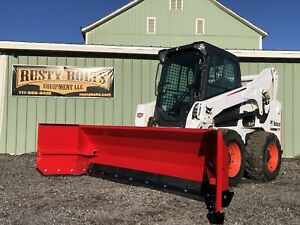 New 8 10 Foot Snow Pusher Box Blade For Skidsteer Loader Usa Made Quick Attach