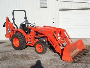 2012 Kubota L3800 Tractor Loader Backhoe 185 Hours Hydro 4x4 Local 1 Owner