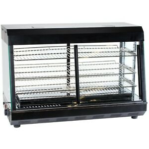 26 Countertop Self Service Heated Food Display Warmer With Doors 110v 1500w