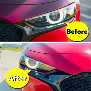 Painted Hatchback 2019 For Mazda 3 4th Bp Front Eyebrow Eyelids Covers 2pcs