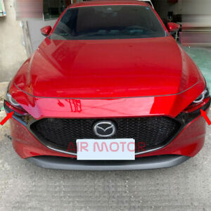 Eyelids Front Headlight Covers Painted Color Fit Mazda 3 4th 2019 Bp Hatchback