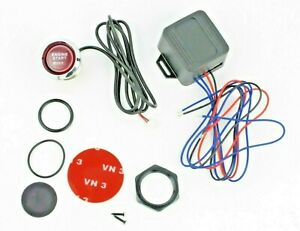 Universal 12v Car Engine Start Push Button Switch Ignition Starter Kit Red Led