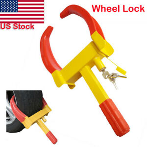 Wheel Lock Clamp Boot Tire Claw Trailer Auto Car Truck Anti Theft Towing