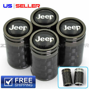 Valve Stem Caps Wheel Tire For Jeep 4pc 2 Color Option Us Seller