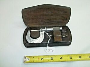 Brown And Sharpe No 13 0 1 Machinist Micrometer 0001 Steel Faces Usa