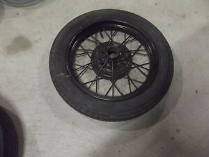 1930 1931 Ford Model A 19 Wire Wheel Rim With Tire Original Oem Rat Hot Rod