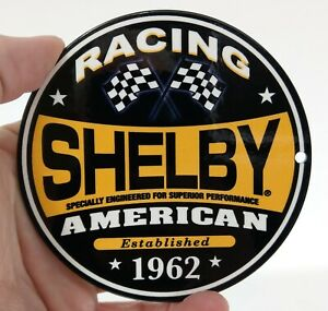 Shelby American Racing Metal Art Wall Sign 4 magnet