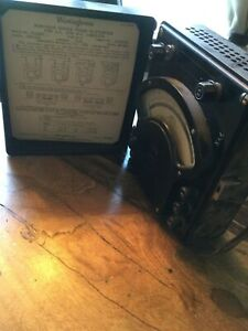 Authentic Westinghouse Electric Wattmeter