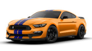 2019 Ford Mustang Shelby Cobra Gt350 Cutout Metal Sign 23x10 Orange Fury Blue