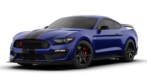 2019 Ford Mustang Shelby Cobra Gt350r Metal Sign 23 x10 Kona Blue Black Stripes