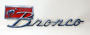 Ford Bronco Sport Script Badge Heavy Duty Steel Metal Sign Licensed 16 X 4
