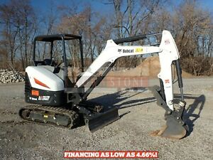 2019 Bobcat E32i Mini Excavator Orops 2 Speed Aux Hydraulics Thumb Low Hrs