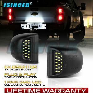 Bright Smd Led License Plate Light Lamps For Chevy Silverado Avalanche 1999 2013