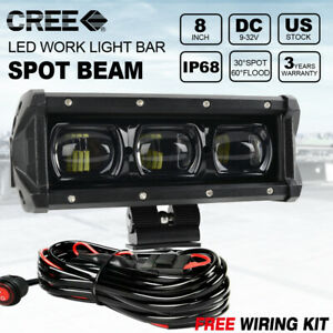 7inch 30w Slim Cree Led Work Light Bar Offroad Atv Fog Truck 4wd 12v Spot Wire