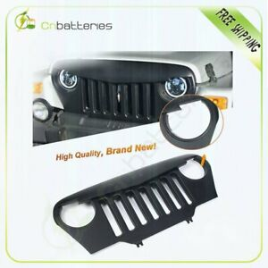 New Front Angry Bird Black Grille Hood Fit For 1997 06 Jeep Wrangler Tj